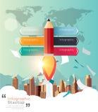Infographic moderne pour le démarrage d'entreprise Photos libres de droits