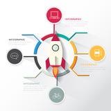 Infographic moderne pour le démarrage d'entreprise Photographie stock libre de droits