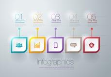 Infographic moderno Fotografía de archivo libre de regalías