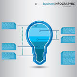 Infographic moderno con la bombilla Foto de archivo