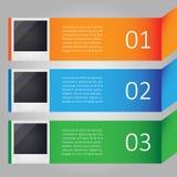 Infographic moderno con le immagini Fotografie Stock Libere da Diritti