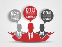 Infographic moderno dell'uomo di affari Fotografia Stock