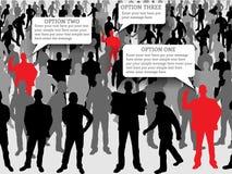 Infographic moderno dell'uomo di affari Fotografia Stock Libera da Diritti