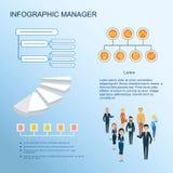 Infographic moderno Gestão e sistema de controlo Fotografia de Stock Royalty Free