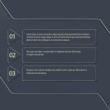 Infographic moderno nel fondo scuro Può essere usato per web design, flusso di lavoro Fotografie Stock