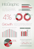 infographic modernt Stock Illustrationer