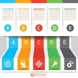 Infographic modernt baner Royaltyfri Fotografi