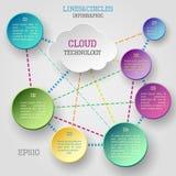 Infographic moln Royaltyfri Bild
