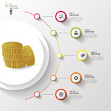 Infographic. Money. Colorful circle with icons. Vector Royalty Free Stock Photos