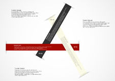 Infographic motif with three long ribbons Royalty Free Stock Photo