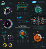 Infographic Music Elements with Vinyl and Speaker. Stock Images