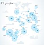 infographic nätverk Arkivbild