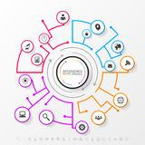 Infographic network concept. Modern business template. Vector Royalty Free Stock Photos