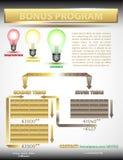 Infographic network marketing Stock Photos