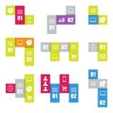 Infographic nowożytni szablony Lampasy dla sztandarów, biznesowych tło i prezentacj, Zdjęcie Royalty Free