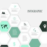 Infographic nowożytni Elementy Obraz Royalty Free