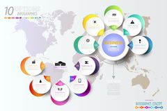 Infographic number template 3D with icon and 10 option. Infographic number template 3D with icon and 10 option or step,Business concept, Blank space for content royalty free illustration