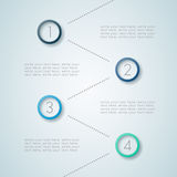 Infographic Numbered Steps 5 Royalty Free Stock Photo