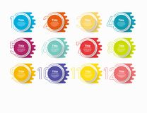 Infographic nummeralternativ för cirkel Designvektormallen kan användas för workfloworienteringen, diagrammet, presentationen, re royaltyfri illustrationer