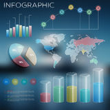 Infographic objects 3d Stock Image