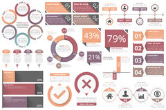 Infographic Objects Stock Image