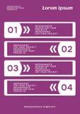 Infographic oder Netzfahnenentwurf mit nummerierten Schritten stock abbildung