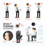 Infographic office syndrome Template Design . Concept Vector ill Royalty Free Stock Image