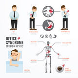 Infographic office syndrome Template Design . Concept Vector ill Stock Image