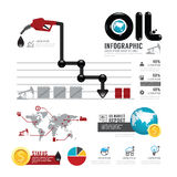 Infographic oil business of the world with icons vector Royalty Free Stock Photos