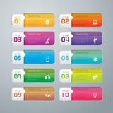 Infographic ontwerp en marketing pictogrammen Stock Foto