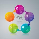 Infographic ontwerp en marketing pictogrammen Stock Foto's