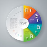 Infographic ontwerp en marketing pictogrammen Stock Afbeelding