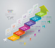 Infographic ontwerp en marketing pictogrammen Royalty-vrije Stock Afbeelding
