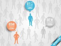Infographic optio τρία επιχειρησιακών ατόμων πορτοκάλι 5 Στοκ εικόνα με δικαίωμα ελεύθερης χρήσης