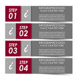 Infographic option banner Royalty Free Stock Photos