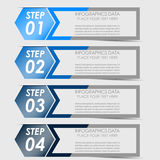 Infographic option banner Stock Images