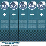 Infographic option banner Royalty Free Stock Photography