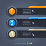 Infographic Option Banner Royalty Free Stock Images