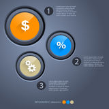 Infographic Option Banner Stock Photography