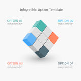 Infographic option template Stock Image