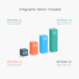 Infographic option template Stock Photography