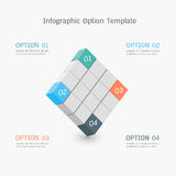 Infographic option template Stock Photos