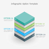 Infographic option template. Vector 3D infographic option template vector illustration