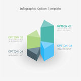 Infographic option template. Vector 3D infographic option template royalty free illustration