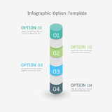 Infographic option template Royalty Free Stock Images