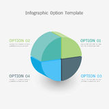 Infographic option template Royalty Free Stock Photo