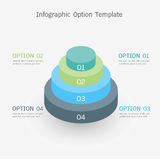 Infographic option template Stock Images