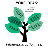 Infographic option tree Royalty Free Stock Photos