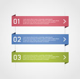 Infographic options banner Royalty Free Stock Photography