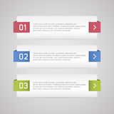 Infographic options banner Stock Photos